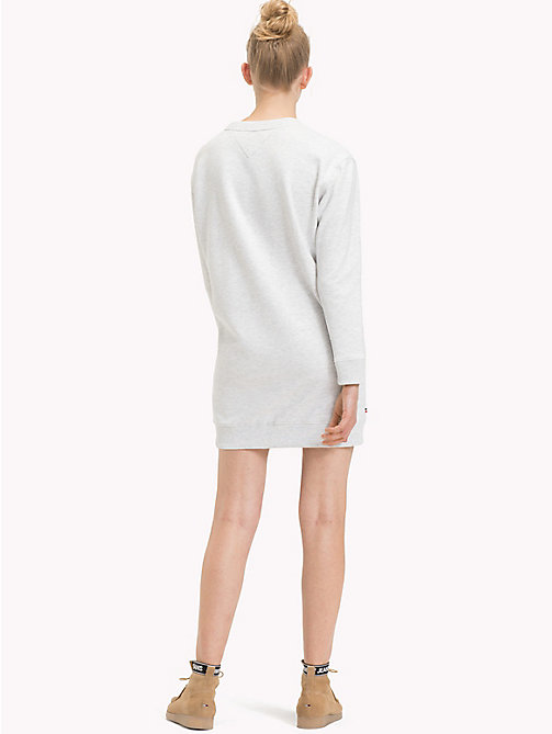 TOMMY JEANS Boyfriend Fit Logo Sweatshirt Dress - PALE GREY HEATHER - TOMMY JEANS Mini - detail image 1