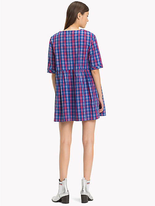 TOMMY JEANS Printed A-Line Dress - MULTI COLOR CHECK - TOMMY JEANS Trending - detail image 1