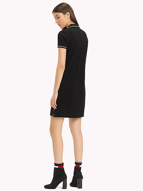 TOMMY JEANS Slim Fit Contrast Polo Dress - TOMMY BLACK - TOMMY JEANS Sustainable Evolution - detail image 1