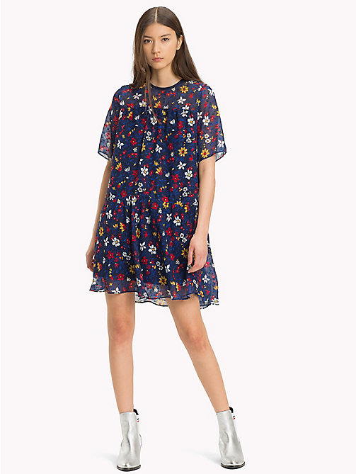 TOMMY JEANS Dropped Waist Dress - VINTAGE FLORAL PRINT - TOMMY JEANS Mini - main image