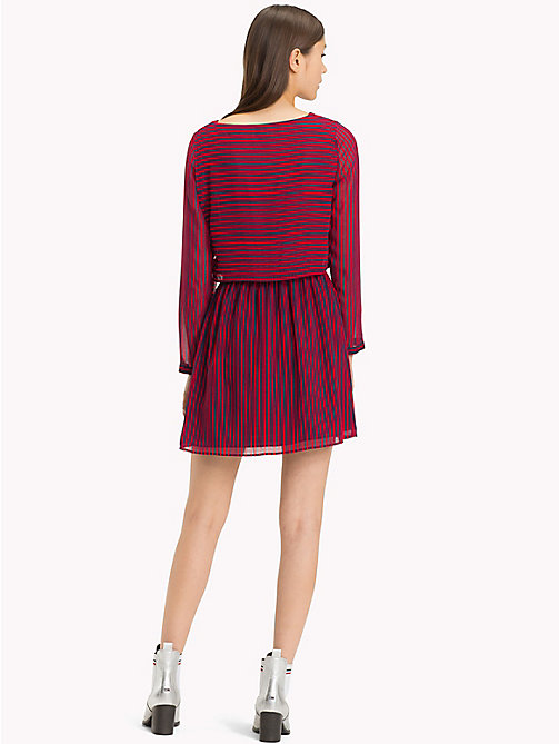 TOMMY JEANS Railroad Stripe Mini Dress - BLACK IRIS / SAMBA - TOMMY JEANS Dresses - detail image 1