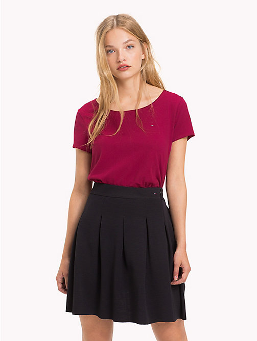 TOMMY JEANS Flare Fit College Skirt - TOMMY BLACK - TOMMY JEANS Trousers & Skirts - main image