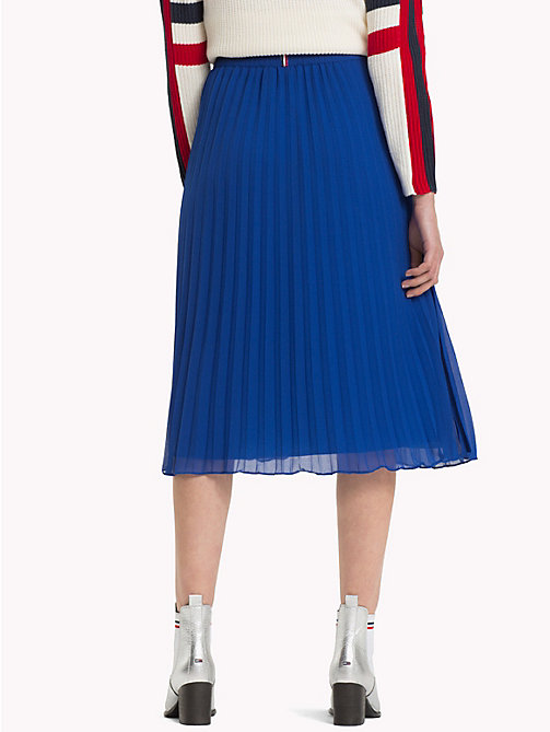 TOMMY JEANS Pleated Medium Length Skirt - SURF THE WEB - TOMMY JEANS Trousers & Skirts - detail image 1