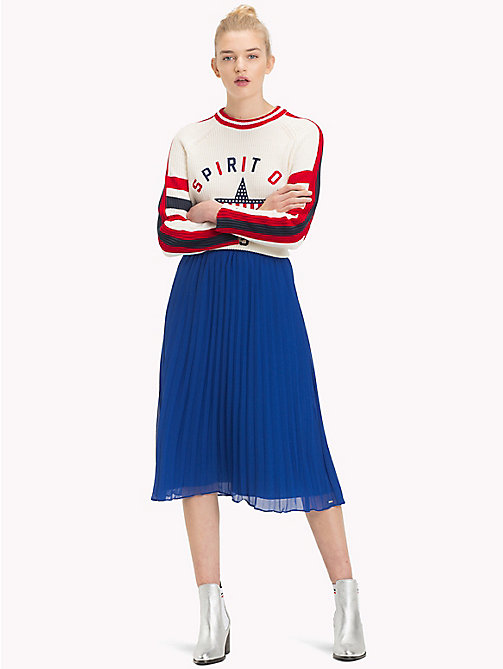 TOMMY JEANS Pleated Medium Length Skirt - SURF THE WEB - TOMMY JEANS Trousers & Skirts - main image