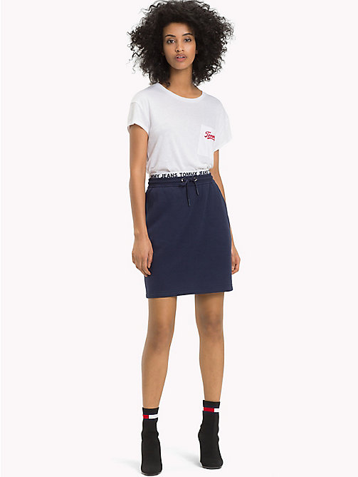 TOMMY JEANS Casual Fleece Skirt - BLACK IRIS - TOMMY JEANS Trousers & Skirts - main image