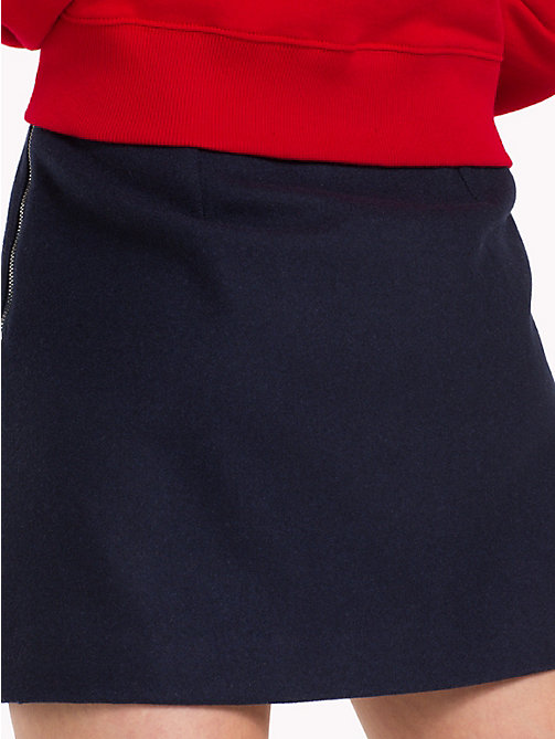 TOMMY JEANS A-Line Varsity Skirt - BLACK IRIS - TOMMY JEANS Trousers & Skirts - detail image 1