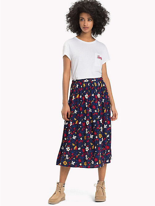 TOMMY JEANS Flared Floral Wrap Skirt - VINTAGE FLORAL PRINT - TOMMY JEANS Trousers & Skirts - main image