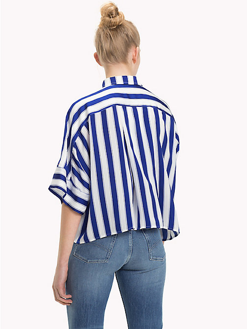 TOMMY JEANS Stripe Cropped Fit Shirt - SURF THE WEB / BRIGHT WHITE - TOMMY JEANS TOMMY JEANS WOMEN - detail image 1