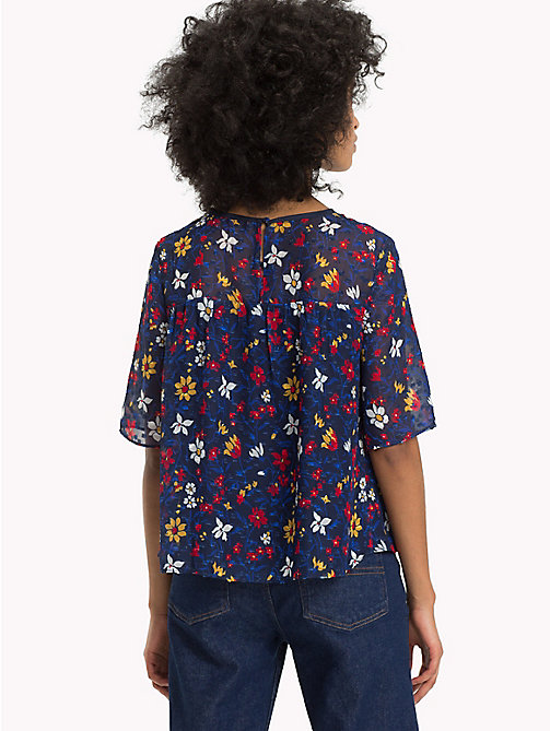 TOMMY JEANS Gemusterte Flare Fit Bluse - VINTAGE FLORAL PRINT - TOMMY JEANS Tops - main image 1