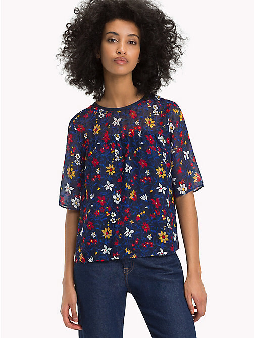TOMMY JEANS Gemusterte Flare Fit Bluse - VINTAGE FLORAL PRINT - TOMMY JEANS Tops - main image