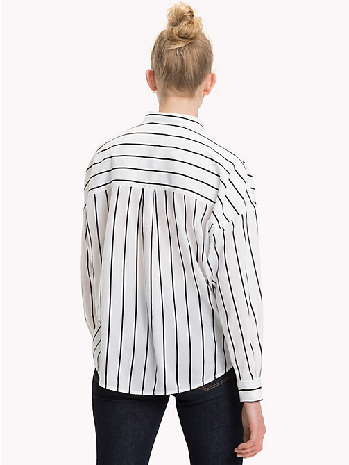 TOMMY JEANS Stripe Boyfriend Fit Shirt - BRIGHT WHITE / TOMMY BLACK - TOMMY JEANS Tops - detail image 1