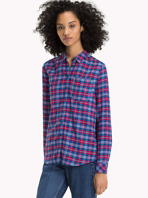TOMMY JEANS Check Regular Fit Shirt - MULTI COLOR CHECK - TOMMY JEANS Tops - main image
