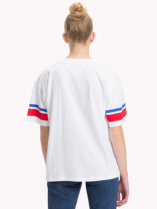 TOMMY JEANS Organic Cotton Logo Top - BRIGHT WHITE - TOMMY JEANS TOMMY JEANS WOMEN - detail image 1