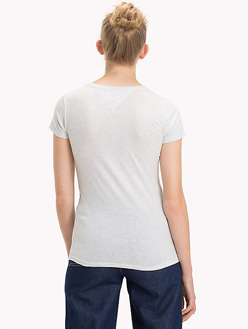 TOMMY JEANS Tommy Jeans Circle Logo Top - PALE GREY HEATHER - TOMMY JEANS Sustainable Evolution - detail image 1