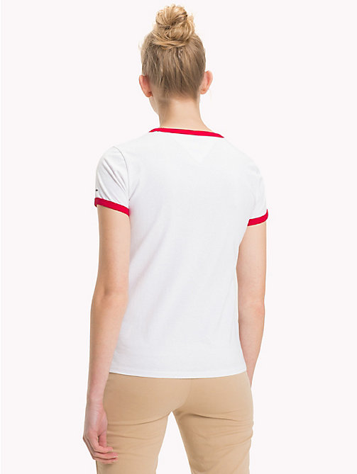 TOMMY JEANS Contrast Trim Logo T-Shirt - BRIGHT WHITE - TOMMY JEANS Clothing - detail image 1