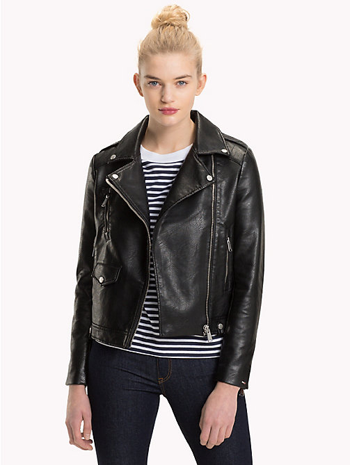 TOMMY JEANS Check Lining Biker Jacket - TOMMY BLACK - TOMMY JEANS What to wear - main image
