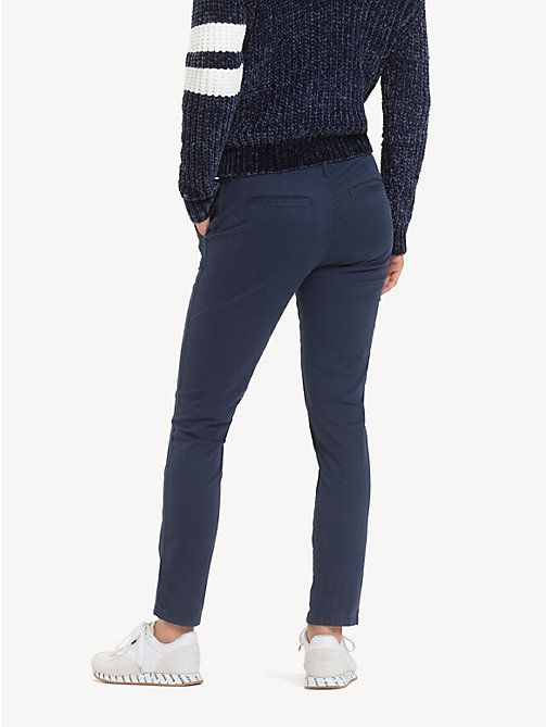 TOMMY JEANS Essential Mid Rise Chinos - BLACK IRIS - TOMMY JEANS Trousers & Skirts - detail image 1