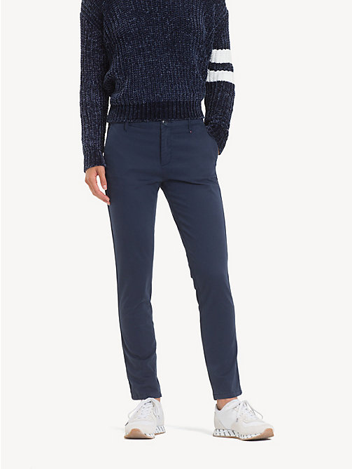 TOMMY JEANS Essential Mid Rise Chinos - BLACK IRIS -  Trousers & Skirts - main image