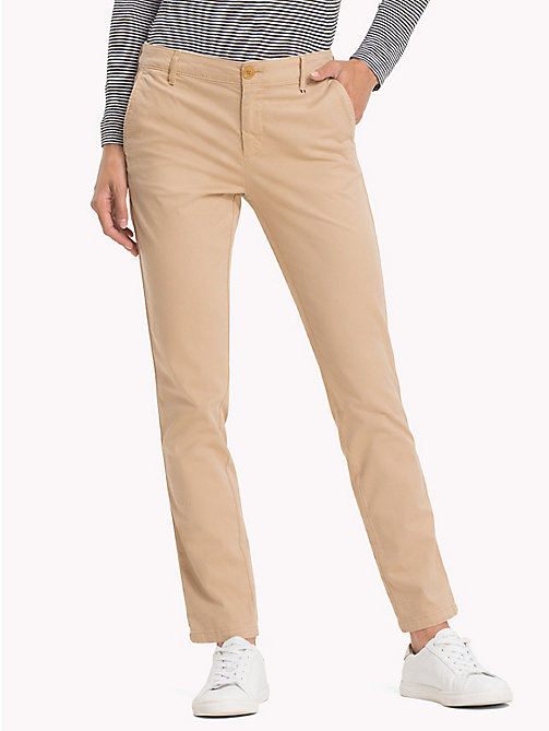 TOMMY JEANS Stretch Cotton Chinos - INCENSE - TOMMY JEANS Trousers & Skirts - main image