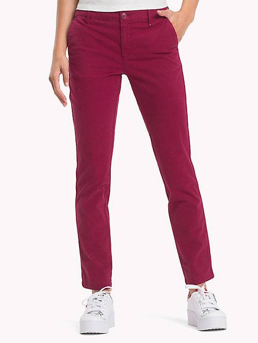 TOMMY JEANS Stretch Cotton Chinos - RUMBA RED - TOMMY JEANS Trousers & Skirts - main image