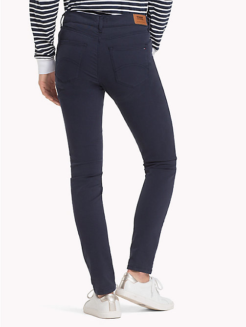 TOMMY JEANS Stretch Cotton Trousers - BLACK IRIS - TOMMY JEANS Trousers & Skirts - detail image 1
