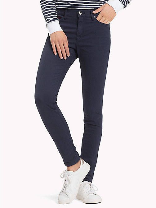 TOMMY JEANS Stretch Cotton Trousers - BLACK IRIS - TOMMY JEANS Trousers & Skirts - main image