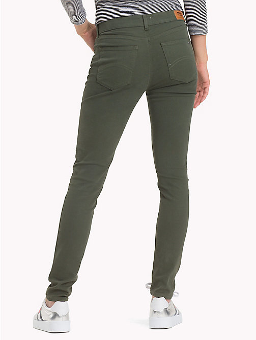 TOMMY JEANS Stretch Cotton Trousers - KOMBU GREEN - TOMMY JEANS Trousers & Skirts - detail image 1