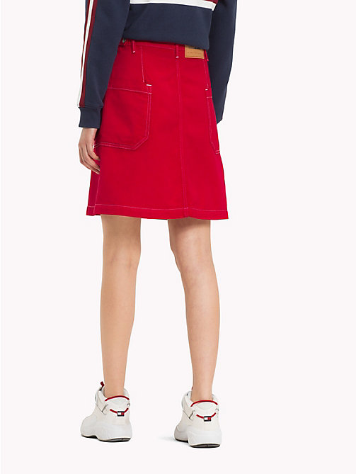 TOMMY JEANS Oversized Pocket Denim Skirt - SNAP SAMBA RIGID - TOMMY JEANS Trousers & Skirts - detail image 1