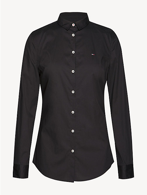 TOMMY JEANS Slim Fit Stretch-Bluse - TOMMY BLACK - TOMMY JEANS Tops - main image 1