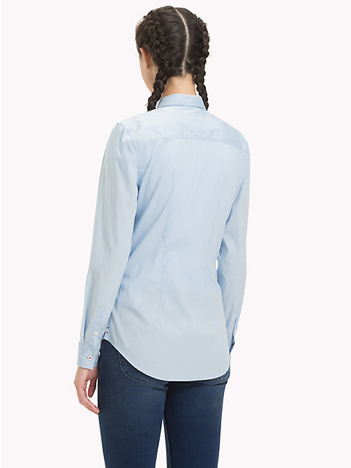 TOMMY JEANS Slim fit blouse met stretch - SKYWAY - TOMMY JEANS Tops - detail image 1