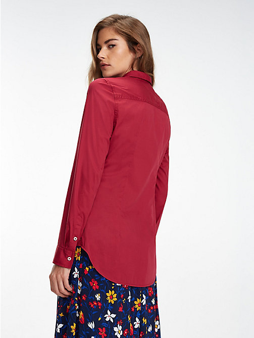 TOMMY JEANS Slim Fit Shirt - RUMBA RED - TOMMY JEANS Tops - detail image 1