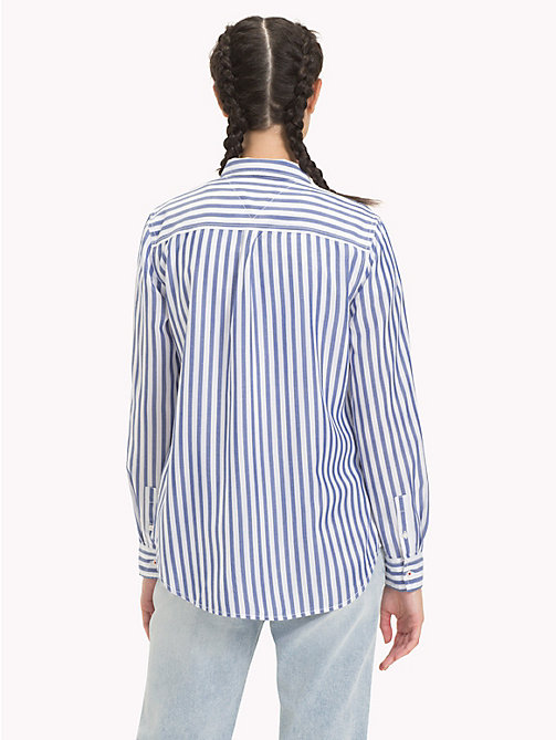 TOMMY JEANS Camisa de rayas - MAZARINE BLUE / CLASSIC WHITE - TOMMY JEANS Tops - imagen detallada 1
