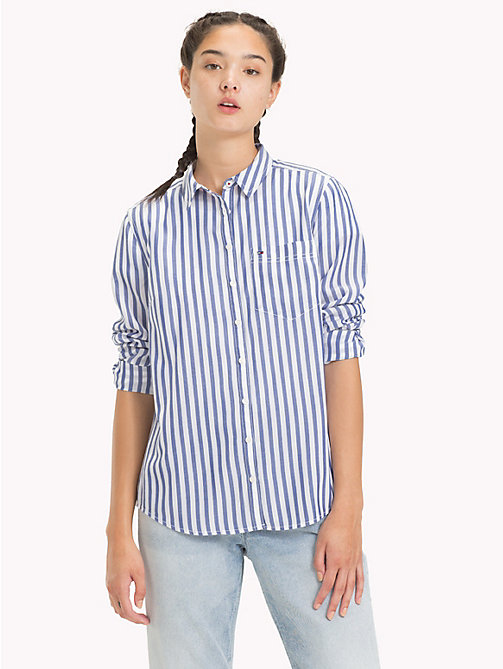 TOMMY JEANS Stripe Shirt - MAZARINE BLUE / CLASSIC WHITE - TOMMY JEANS Tops - main image