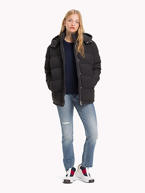 TOMMY JEANS Oversized Hooded Puffer Jacket - TOMMY BLACK - TOMMY JEANS Coats & Jackets - detail image 1