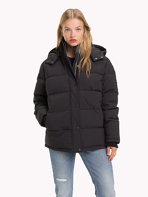 TOMMY JEANS Oversized Hooded Puffer Jacket - TOMMY BLACK - TOMMY JEANS Coats & Jackets - main image