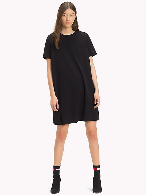 TOMMY JEANS Jersey A-Line Dress - TOMMY BLACK - TOMMY JEANS Mini - main image