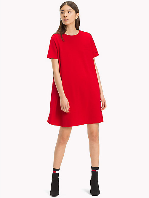 TOMMY JEANS Jersey A-Line Dress - SAMBA - TOMMY JEANS Mini - main image