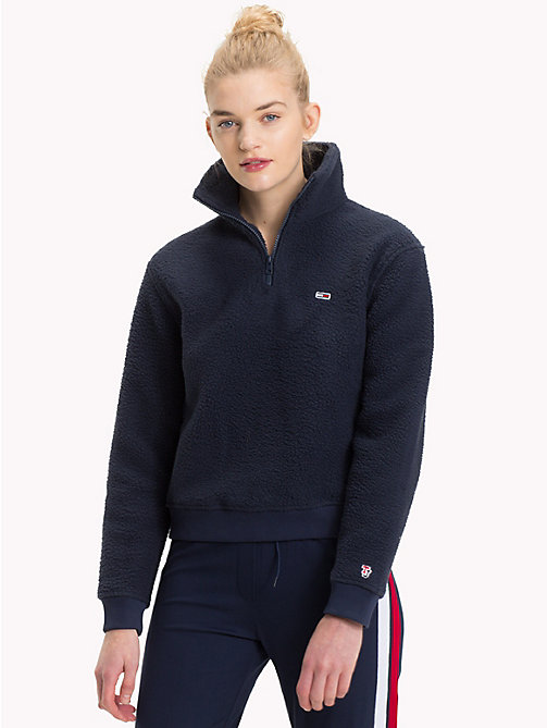 TOMMY JEANS Regular fit fleece sweatshirt - BLACK IRIS - TOMMY JEANS Tommy Classics - main image