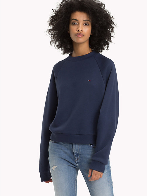 TOMMY JEANS Comfort Fit Raglan Sweatshirt - BLACK IRIS - TOMMY JEANS Clothing - main image