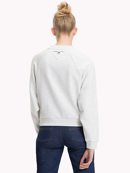 TOMMY JEANS Comfort Fit Raglan Sweatshirt - PALE GREY HEATHER - TOMMY JEANS Sweatshirts & Hoodies - detail image 1