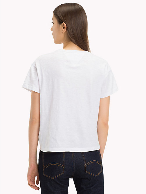 TOMMY JEANS Contrast Pocket T-Shirt - BRIGHT WHITE - TOMMY JEANS Sustainable Evolution - detail image 1