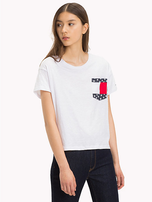 TOMMY JEANS Contrast Pocket T-Shirt - BRIGHT WHITE - TOMMY JEANS Sustainable Evolution - main image