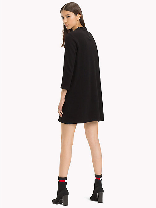TOMMY JEANS Easy Jersey Long Sleeve Dress - TOMMY BLACK - TOMMY JEANS Dresses & Skirts - detail image 1