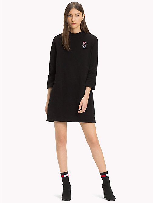TOMMY JEANS Robe à manches longues en jersey - TOMMY BLACK - TOMMY JEANS Mini - image principale