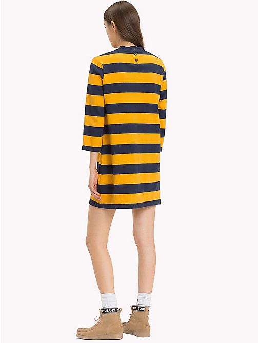 TOMMY JEANS Easy Jersey Long Sleeve Dress - MANGO MOJITO / BLACK IRIS - TOMMY JEANS Dresses & Skirts - detail image 1