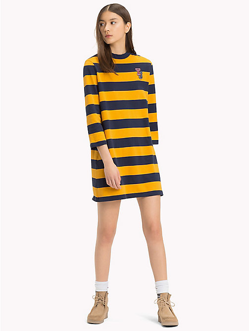 TOMMY JEANS Easy Jersey Long Sleeve Dress - MANGO MOJITO / BLACK IRIS - TOMMY JEANS Mini - main image