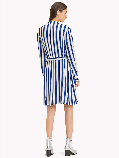 TOMMY JEANS Stripe Regular Fit Shirt Dress - SURF THE WEB / BRIGHT WHITE - TOMMY JEANS Shirt Dresses - detail image 1