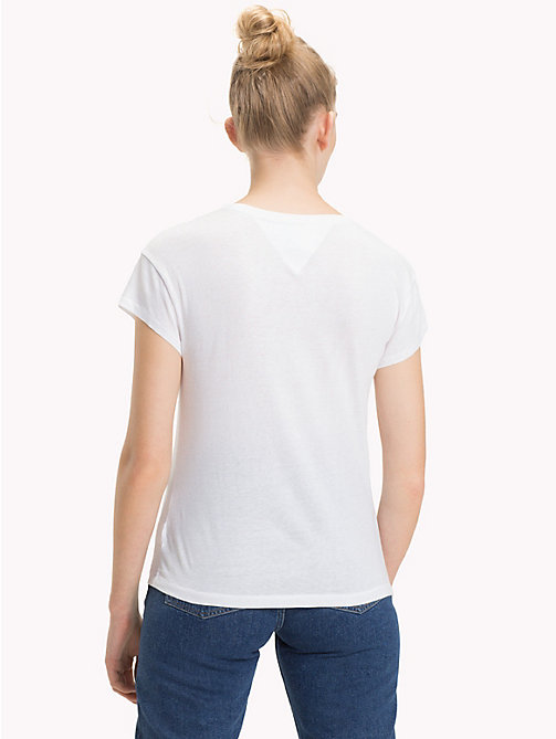 TOMMY JEANS Logo Pocket T-Shirt - BRIGHT WHITE - TOMMY JEANS Tops - detail image 1