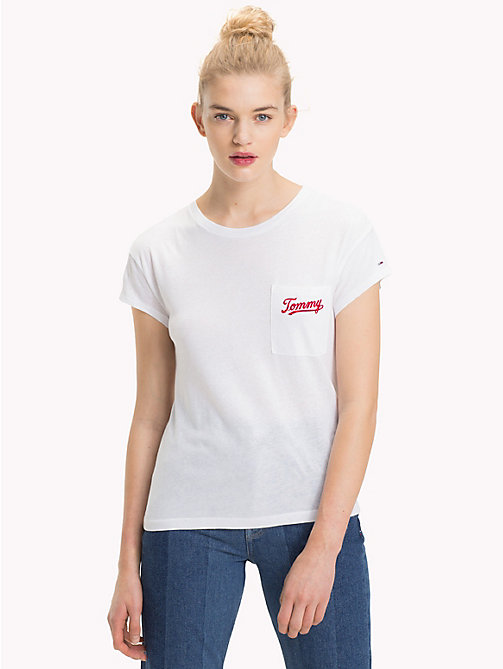 TOMMY JEANS Logo Pocket T-Shirt - BRIGHT WHITE - TOMMY JEANS Tops - main image