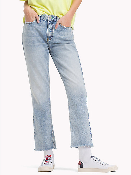 TOMMY JEANS 90s Light-Wash Mom Jeans - LIGHT BLUE DENIM - TOMMY JEANS VACATION - main image